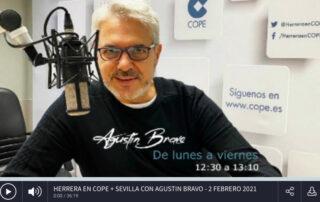 Agustín Bravo nos entrevista en Cadena Cope Sevilla